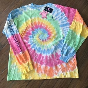 Simply Southern XL long sleeve turtle tie dye top